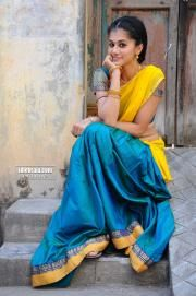 Tapsee Sexy Stills in Saree From telugu Movie Gundello Godari