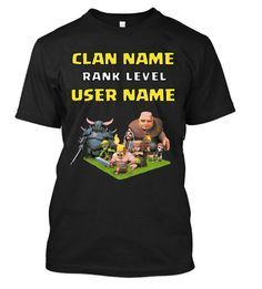 Clash of Clans  Custom Clan T-Shirt by MyLifeHappens on Etsy