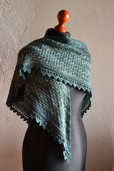 Elowen Shawl By Judy Marples - Purchased Knitted Pattern - (ravelry)