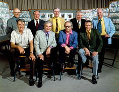 "Walt Disney's ""Nine Old Men"" (more like nine brilliant men, his original animators)  Back row: Milt Kahl, Marc Davis, Frank Thomas, Eric Larson, and Ollie Johnston. Front row: Woolie Reitherman, Les Clark, Ward Kimball, and John Lounsbery."