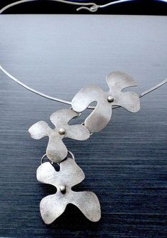 Sterling Silver Flower Chocker Necklace