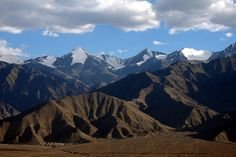 View of the mountains at Ladakh, India