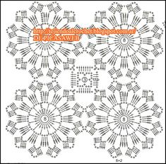 PATRONES=GANCHILLO = CROCHET = GRAFICOS =TRICOT = DOS AGUJAS: GRANNY,CIRCLES crocheted