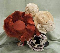antique doll bonnets