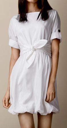 Bubble hem dress