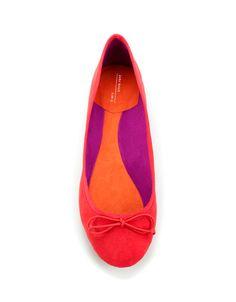 BASIC BALLERINA WITH BOW - Woman - Shoes - ZARA United Kingdom
