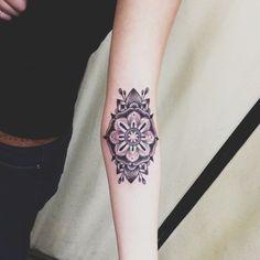 Girl left forearm mandala flower tattoo , mandala tattoos, designs & id Girly Tattoos, Pretty Tattoos, Arm Tattoos, Beautiful Tattoos, Body Art Tattoos, Small Tattoos, Sleeve Tattoos, Temporary Tattoos, Tatoos