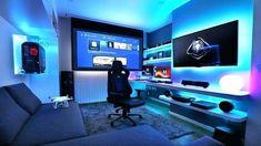 33 Fun Video Game Room Design Ideas For Gamer's Vibe 33 Fun Video Game Room Design Ideas For Gamer's Vibe Fun Video Games, Video Game Rooms, Pc Games, Free Games, Best Gaming Setup, Gaming Room Setup, Gamer Setup, Pc Setup, Kitchen Island Storage