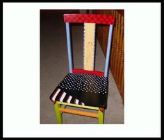 Chair  I painted and donated to the church auction.
