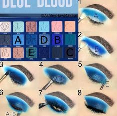 Techniques cheat sheets Double Tap if you 💙 this look 👀 Feeling Blue? Try out this pictorial that . Double Tap if you 💙 this look 👀 Feeling Blue? Try out this pictorial that I created using the Blue Blood Palette by the iconic… Jeffree Star Eyeshadow, Blue Eyeshadow Makeup, Blue Eyeshadow Looks, Blue Makeup Looks, Foil Eyeshadow, Yellow Eyeshadow, Eyeshadow Palette, Natural Eyeshadow, Easy Eyeshadow