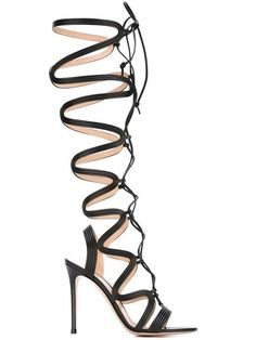 Shop Gianvito Rossi lace-up gladiator sandals  in Biondini Paris from the world's best independent boutiques at farfetch.com. Shop 400 boutiques at one address.