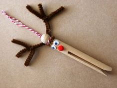 Make Your Own Rudolph Peg Doll Kit ~ a great Christmas decoration for the kids to make