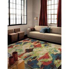 Orian Rugs Bright Color Distressed Diamonds Vibrant Mirage Multi Area Rug, Multicolor