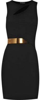 little black dress + gold belt