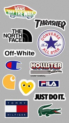 Sticker Bomb Wallpaper, Iphone Wallpaper Vans, Tumblr Wallpaper, White Wallpaper, Wall Wallpaper, Homemade Stickers, Diy Stickers, Brand Stickers, Bubble Stickers