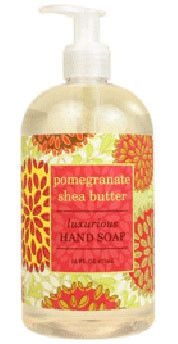 Pomegranate Shea Butter Liquid Soap by Greenwich Bay Trading Company. Luxurious spa liquid hand soap enriched with shea butter, cocoa butter, pomegranate oil & natural extracts in fresh botanical scents. Cocoa Butter, Shea Butter, Pomegranate Oil, Liquid Hand Soap, Natural Oils, Trading Company, Spa, Fresh, Hand Soaps