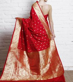 The design looked for! Maroon Katan Silk Banarasi Saree