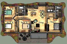 plano casa rectangular - Buscar con Google