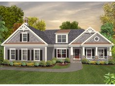 nice walk out floor plan with attached garage