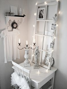 use white twinkle lights for added lighting