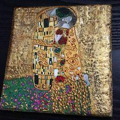 Наша пряничная #копия одной из любимых картин #климт #поцелуй ... Для очередного грандиозного проекта @natasweetart .