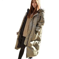 Thick Casual Loose Hooded Large Cotton Padded Casual Parka Long Fashion Winter Women Jacket Solid Color Wadded Parkas TT2520 #Affiliate
