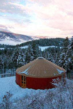 winter yurt