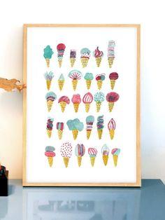 Icecream! Poster (50x70cm)