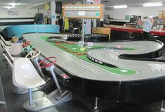 Discover Buzz-A-Rama in Brooklyn, New York: The last slot car racing arcade in Brooklyn is keeping the dream of speedy little autos alive. Slot Car Race Track, Slot Car Racing, Slot Car Tracks, Slot Cars, Race Cars, Borne Arcade, 2017 Acura Nsx, Dual Clutch Transmission, Places In New York