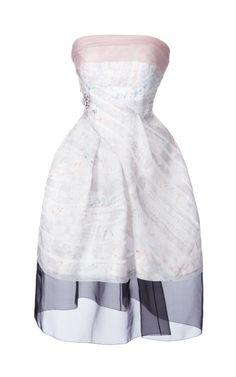 Graphic Diamond Dot Organza Strapless Dress by J. Mendel - Moda Operandi