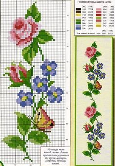 Discover thousands of images about ROSAS Butterfly Cross Stitch, Cross Stitch Rose, Cross Stitch Borders, Cross Stitch Flowers, Counted Cross Stitch Patterns, Cross Stitch Charts, Cross Stitch Designs, Cross Stitching, Cross Stitch Embroidery