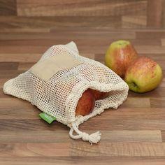 TreeBox Premium Obst- und Gemüsebeutel im 3er Set Fruit And Veg, Sachets, Packaging, Cotton