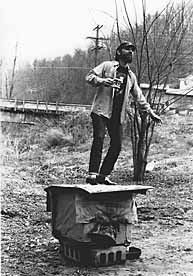 Jesco White, son of D. Ray White. The dancing outlaw. D. Ray and Jesco are the last of a rich tradition of Appalachian styled clog/tap dance.