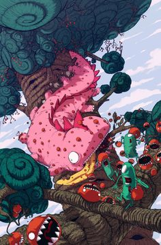 The attack of killer tomatoes  by ~BattlePeach on deviantart