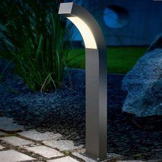 LED-Standleuchte in Aluminium anthrazit, LED 2,7W - 2 Höhen