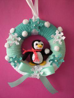 Winter Crochet Pattern wreath pattern Crochet di Petrapatterns