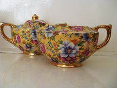 Sophie Chintz from James Sadler cream jug and sugar bowl