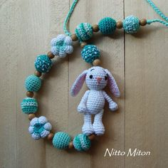 Crochet Nursing necklace Wooden Teething necklace for mom Babywearing Breastfeeding necklace Ring sling Baby girl boy toy Eco Organic beads Teething necklace for mom is ready to ship. Crochet Nursing necklace made with natural, unfinished wooden beads and crocheted with 100% cotton yarn.