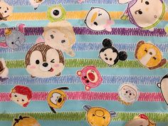 A personal favorite from my Etsy shop https://www.etsy.com/listing/480208732/disney-tsum-tsum-drawing-fabric-made-in