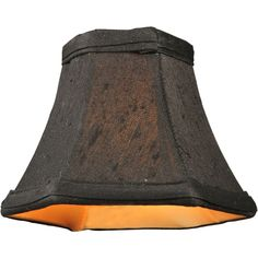 6 Inch W X 4.5 Inch H Hexagon Black Fabric Shade - Custom Made