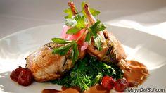 Main Dish: rellenos de codorniz | wild rice stuffed quail · mushrooms · kale · grapes · fig arbol salsa