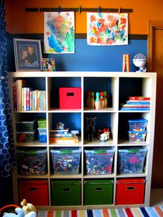 "IHeart Organizing: March Featured Space: Kids - Where ""Art"" Thou Clips?..storage idea for school room"