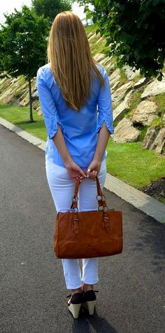 Blue blouse with ruffled sleeves <3