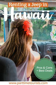 Renting a jeep in Hawaii. pros and cons to renting a jeep in hawaii. This article includes Hawaii jeep tours, Hawaii jeep pictures, Hawaii jeep rentals, and Hawaii jeep wrangler tips and tricks! Oahu Hawaii, Hawaii Travel, Hawaii Beach, Mexico Travel, Spain Travel, Cancun Hotels, Beach Hotels, Beach Resorts, Island Park Idaho