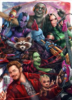 The Guardians of the Galaxy #Marvel #Fanart