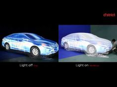 car mapping with and without ambient light