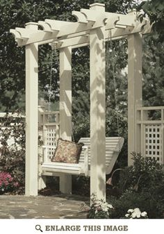 Arbor Woodworking Plan, Outdoor Furniture Project Plan | WOOD Store