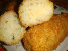 Croquetas de arroz y mozzarella