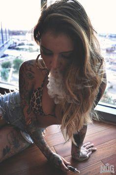 Tattooed Beauty! Vaping #VeganVape #Eliquid? Maybe ;)- Free Vape Spot Giveaways http://FreeVapeSpot.com/