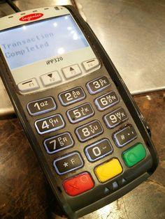 This disgusting credit card machine..